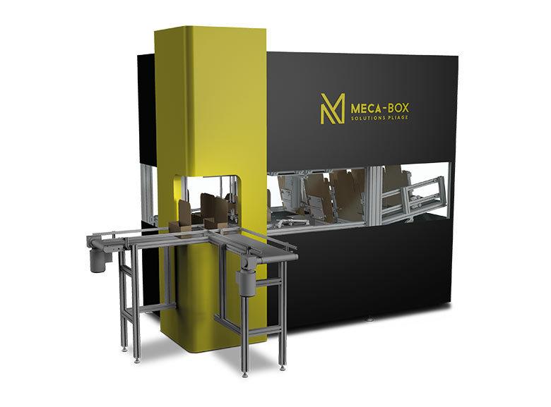 MECA-BOX formeuse de carton automatique ( fefco 047X ) développée par Mecaconcept