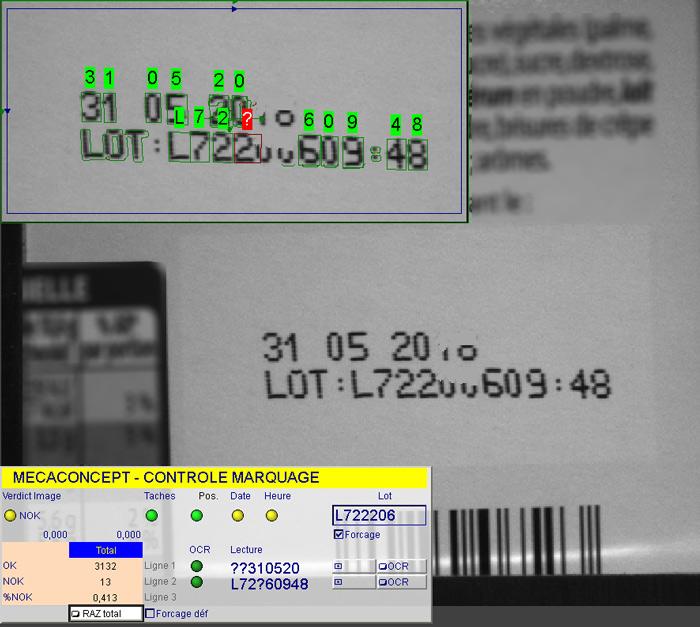 contrôle marquage OCR par Mecaconcept