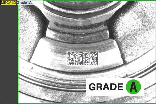 contrôle de la qualité de marquage des codes 2D et échelle de grades par Mecaconcept , expert en vision et ingénierie industrielle en Rhône-Alpes