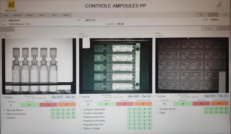 Mecaconcept, intégrateur en vision industrielle en Rhone Alpes, développe et installe des solutions de contrôle de conformité par caméra pour le secteur pharmaceutique
