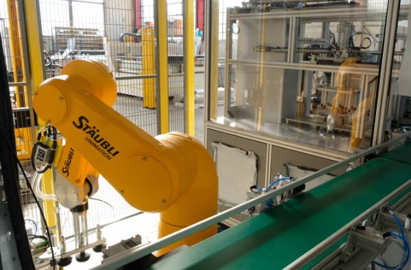 intégration robotique dans ligne de conditionnement par Mecaconcept