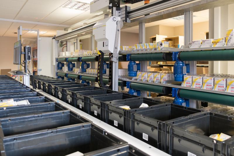 solution logistique : magasin de stockage motorisé par Mecaconcept