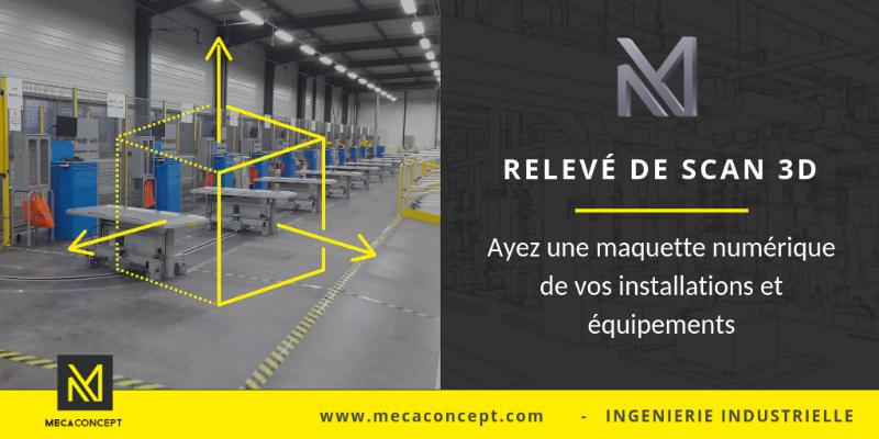 relevé scanner laser 3D en milieu industriel par Mecaconcept