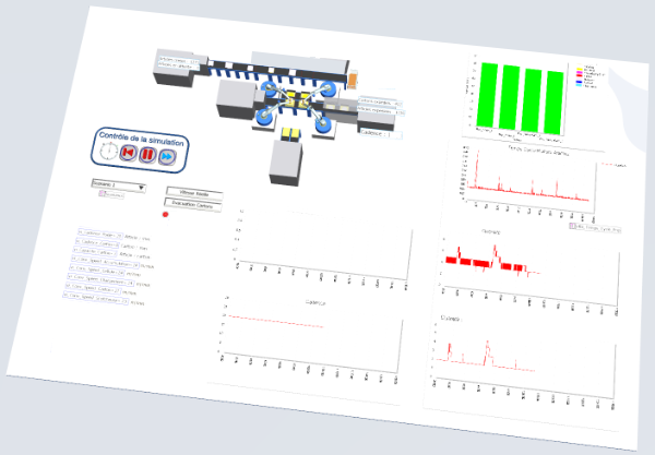 étude de simulation de flux implantation robot mecaconcept