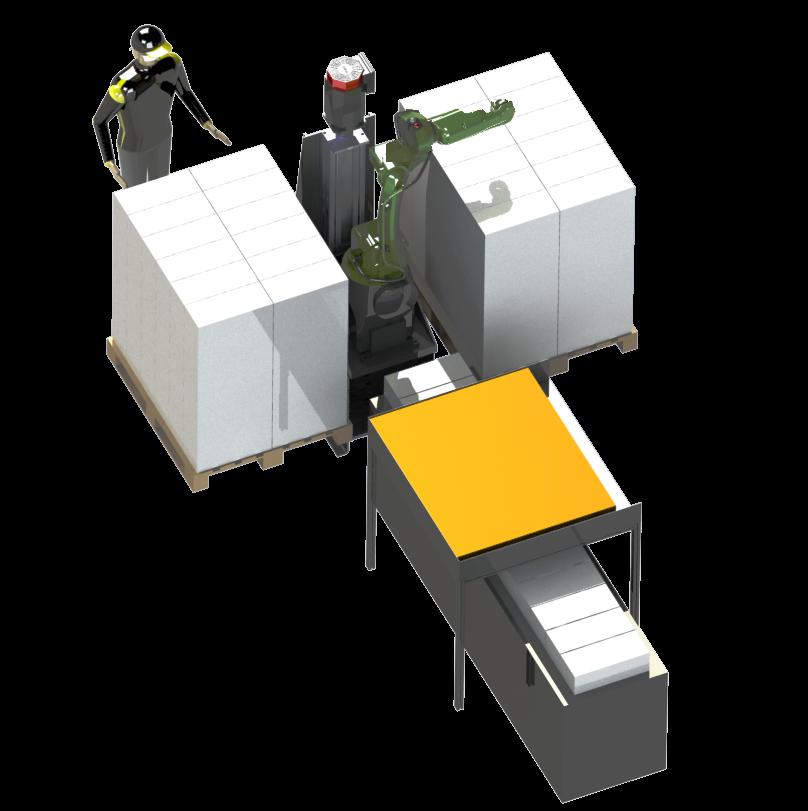 étude d'implantation de robot collaboratif de palettisation par Mecaconcept