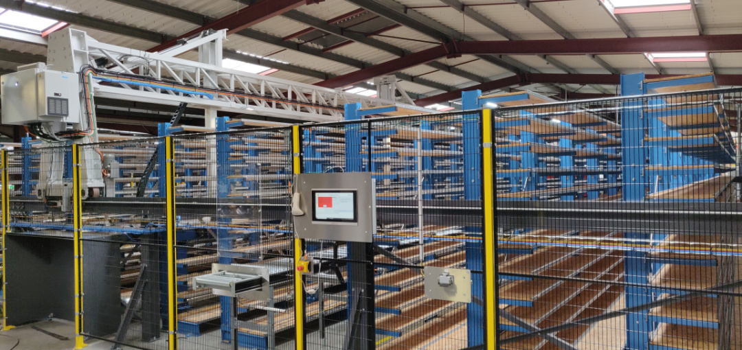 magasin automatisé pour produits longs par Mecaconcept, ingénierie industrielle en auvergne rhone alpes