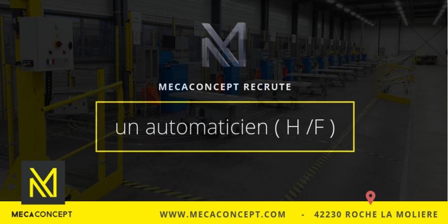 offre d'emploi automaticien confirmé