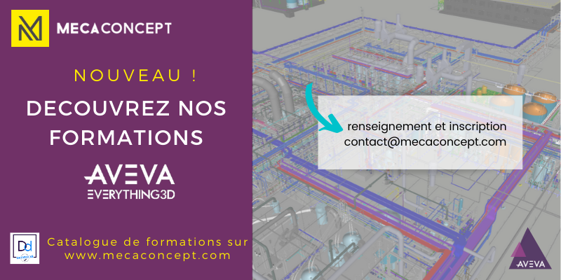 catalogue de formations AVEVA par Mecaconcept