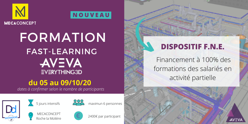 formation AVEVA Evrything3D2.1 octobre 2020 par Mecaconcept